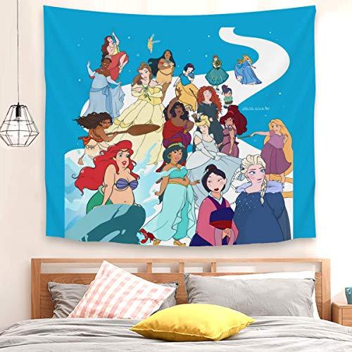 Tapiz para correr, caminar, nadar, volar o columpio, tela brillante, para colgar en la pared, tapiz multicolor para sala de estar, dormitorio, 150 x 130 cm