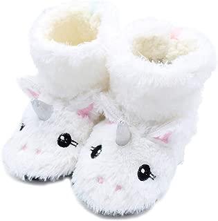 FCTREE Boys Girls Winter Warm Hous Slippers Toddler Kids Indoor Bedroom Bootie Shoes