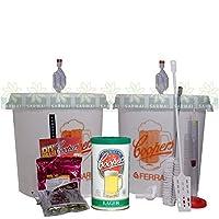 kit fermentazione coopers per birra artigianale con 2 contenitori + malto 23 lt