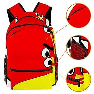 511QGhavL2L. SS300  - TIZORAX Mochila de dibujos animados Angry Bird, mochila escolar de viaje, informal, para mujeres, adolescentes, niñas y…