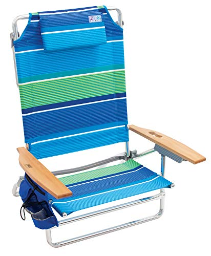 "Rio Beach Big Kahuna Extra Large Folding Beach Chair - Stripe, 9.5"""