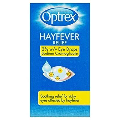 Optrex Hayfever Relief 2 Percent W/V Eye Drops Sodium Cromoglicate, 10 ml