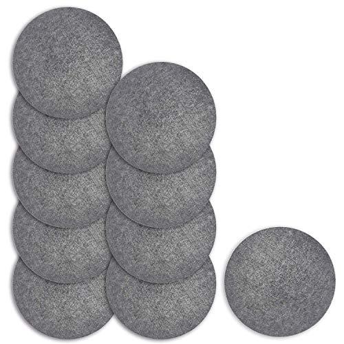 Lead Home Untersetzer aus Filz, Tischuntersetzer rund - Untersetzer für Töpfe, Pfannen, Teller, Gläser, Schüsseln und Vasen (10 Stück, Ø 15cm)