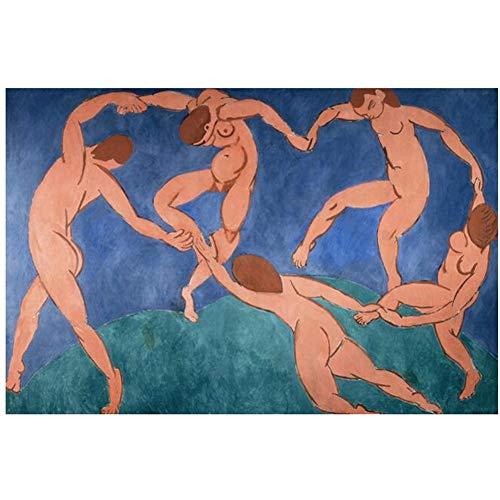 yhyxll La Danza de Henri Matisse Pinturas abstractas de Lienzo en la Pared Carteles e Impresiones de Arte Fauvismo Cuadros de Arte para Sala de estar-60x90cm Sin Marco