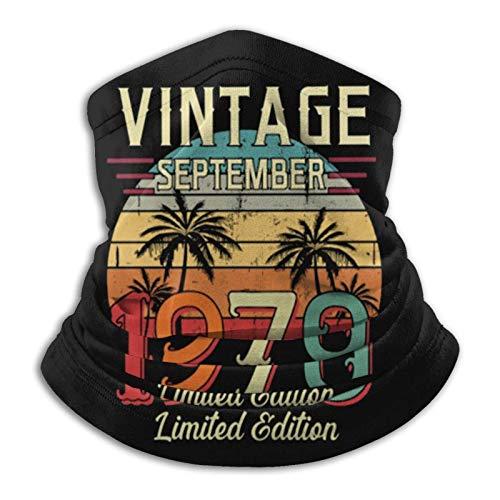 Vintage Septiembre de 1970 Edición Limitada Pañuelo para el Cuello Pañuelo de pasamontañas Multifuncional Pañuelo