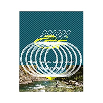 SF Pre-tied Fly Fishing Tapered Leader loop - 6 packs by Sunshine