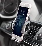 Support Téléphone Voiture Universel Quntis Support de Ventilation Auto Voiture Réglable pour Phone x 8 7 6s 6 Plus Se 5S Samsung Galaxy S7 S6 A5 A3 Huawei OnePlus LG HTC Nokia Motorola Sony GPS Nexus
