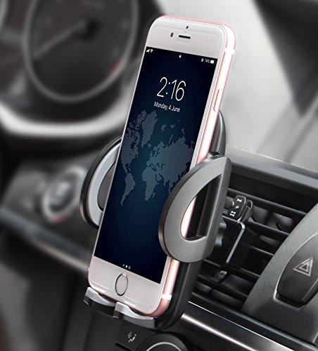Quntis Handyhalterung Auto Lüftung Universal Auto Halter für iPhone XS XR 8 7 7 Plus SE 6s 6 SE 5s 5c 5, Samsung Galaxy S10 S9 S8 S7 S6 S5 S4 S3 Note 8 5, Huawei P20 P10, Sony HTC Xiaomi LG
