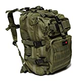 24BattlePack Tactical Backpack | 1 to 3 Day Assault Pack | 40L Bug Out Bag (OD Green)