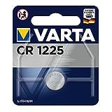 Varta Pila de botón de litio de 3V CR1225, pilas de botón en un blíster original de 1 unidad, plata