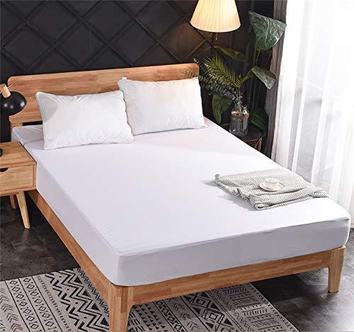 Xuanyijie Protector de colchón impermeable, suave, lavable, transpirable, 30 cm de profundidad (180 x 200 cm)