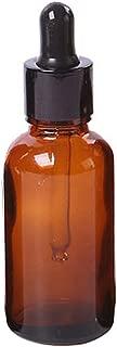 Profusión círculo, rellenable, ámbar Cristal Cuentagotas Botella para aceite esencial Perfume cosméticos Loción Tratamiento casa viajes apto, vidrio, Amber, 30 ml
