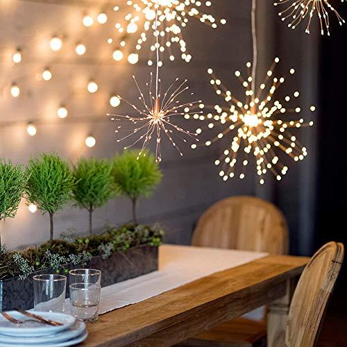 Longzhuo LED vuurwerk licht 200 LED batterij verlicht kerst vuurwerk lijn lichten buiten tuindecoratie lichten kerstversiering slaapkamer thuis party lamp