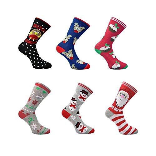 6paires de chaussettes de Noël Homme ou...
