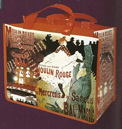 FRANSE SHOPPING TOTE BAG AMBIANCE RETRO POSTER MOULIN ROUGE LA GOULUE DOOR LAUTREC