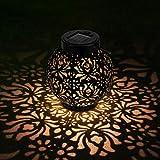 OOWOLF Lámpara de Jardín Linterna Solar Exterior, Iluminación Decorativa Solar LED 500 ...