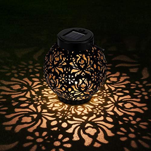 OOWOLF Lámpara de Jardín Linterna Solar Exterior, Iluminación Decorativa Solar LED 500 mAh IP44 Impermeable, Farol Solar Exterior Jardin para Mesa, Fiesta, Parque, Boda, Senderos, Patio