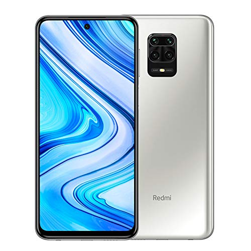 Xiaomi Redmi Note 9 Pro 128GB + 6GB RAM, 6.67' FHD+ DotDisplay, 64MP AI Quad Camera, Qualcomm Snapdragon 720G LTE Factory Unlocked Smartphone - International Version (Glacier White)