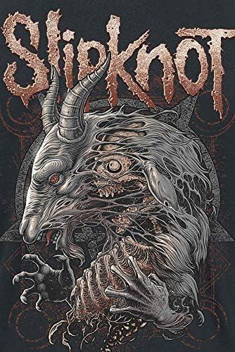 Slipknot Hombre Camiseta Negro, Regular