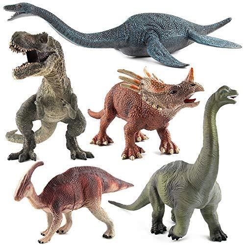 HEXL Juguetes de Dinosaurios de Aspecto Realista, Figura de Acción de 5 Piezas, Modelo de Dinosaurio, Juguete Educativo para Niños Pequeños, Regalo para Niños Y Niñas