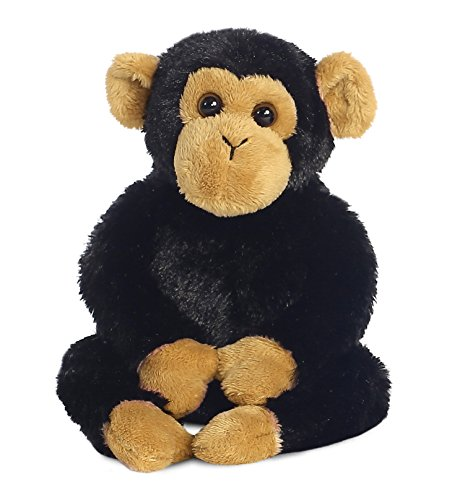 AURORA, 31710, Mini Flopsies Clyde the Chimp, 8In, Soft Toy, Black and Brown