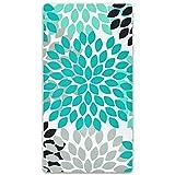 Dahlia Pinnata Beach Towel 31.5'x59.1' Flower Leaves Towelling...