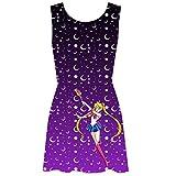 Sailor Moon - Moon and Stars Minikleid - S