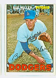 1967 Topps Baseball 461 Bob L Miller Semi High Number Los Angeles Dodgers Good to Very Good