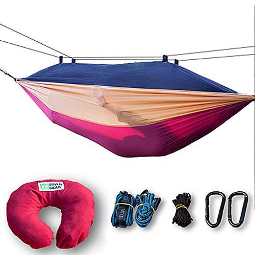 Aixuexidewo Hamac de camping en nylon léger et portable pour randonnée, voyage, plage, cour, intérieur