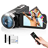 Video Camera Camcorder 2021 New Upgraded 1080P FHD 16X Zoom Digital Camera Recorder for YouTube 3.0 Inch Touch Screen Vlogging Camera with Remote Control and 2 Batteries