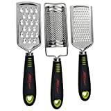 ALLTOP Graters for Cheese,Nutmeg,Potato,Ginger and Garlic,Hand-held Stainless Steel Zester for...
