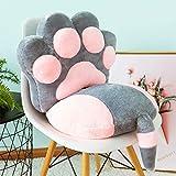 shmcc Chair Cushion Seat Cushion, Sofa Pillow Nap Pillow, Cat Paw Cushion and Cat Tail Seat Cushion, Detachable, Home Office Backrest Cushion, Children's Gifts, Plush Toys