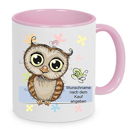 Crealuxe Tasse mit Wunschnamen (Nach dem Kauf angeben) - Kaffeetasse mit Motiv, Bedruckte Tasse mit Sprüchen oder Bildern