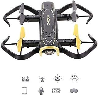 SCDX5 Cámara Drone Drone de Cuatro Ejes, 1080p HD Antena WiFi conexión VR Control de Voz Control Fijo fotografía Alta Control Remoto aeronave Fija Flotante Mini Drone con