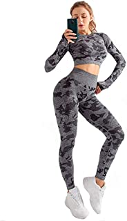Yoga Wear Camouflage Set Sport Suits Women's Sweatsuits Yoga Jogging Tracksuits
