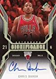 2007-08 Upper Deck SP Game Used Significance #SI-CD Chris Duhon #SI-CD Auto Bulls