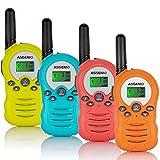 Walkie Talkies 4 Pack for Kids, 22 Channels Two Way Radio 3 Miles Long Range Kids Walkie Talkies, Birthday Toys Walkie Talkie for Boys Girls