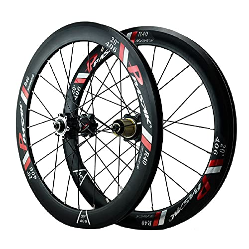 ZPPZYE Ruedas Bicicleta Montaña Freno en V 20 Pulgadas, Aleación Aluminio Bicicleta MTB Rodamiento Sellado 24 Hoyos para 7/8/9/10/11/12 Velocidad (Size : 20 Inch)