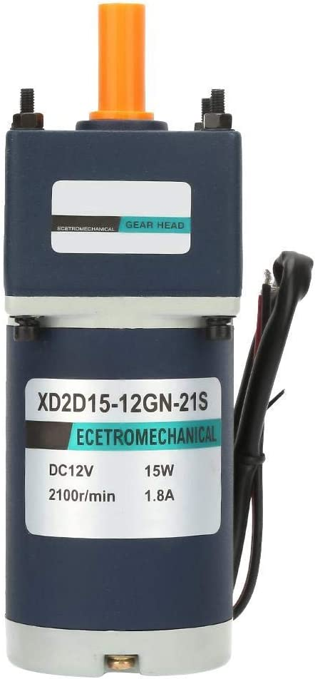 JF-XUAN DC12V Gear Motor 15W Moto Geared Max 88% Max 81% OFF OFF 2100RPM 1800 Reduction