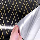 Enipate Peel and Stick Metallic Wallpaper Brushed Silver Removable Gold Wall Paper,Dark Purple (17.54 X 98.42 inch)