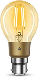 TP-Link KL60B KL60B(UN) TP-Link Kasa Filament Smart Bulb, Warm Amber, No Hub Required, B22 Lamp Base, Control from Anywher...