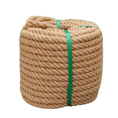 RPOLY Cuerda de Yute, SOGA Fuerte de Yute Cordel de Yute Grueso de 22mm Marinas, decoración, Proyectos, Gato rascador, amarres, Silla de Mimbre, Interior/Exterior,10M