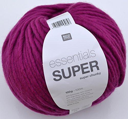 Rico essentials Super chunky Fb. 11 - beere wunderbare Schnellstrickwolle für Ihre modischen Projekte