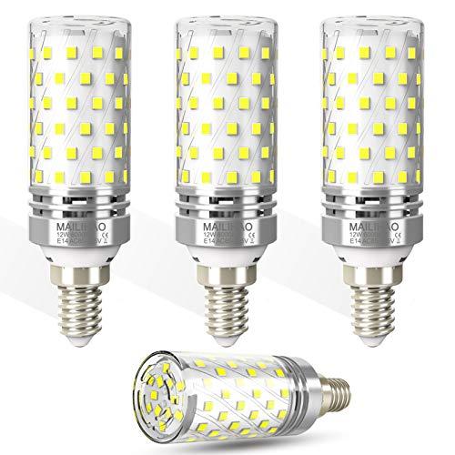 E14 LED Mais Birnen Kaltweiß 12W 1400lm 6000K Led Birne entspricht 100W Glühlampe, Led Kerzenlicht E14 Maiskolben Led Lampe Led E14 kerze Energiesparlampe Led Glühlampen nicht dimmbar, 4 Pack