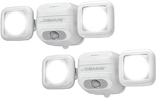 Mr. Beams MBN3000 NetBright 500 Lumen High Performance Wireless Battery Powered Motion Sensing LED Dual Head Security Spotlight (2 Pack), White