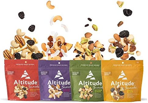 Altitude Snacks Variety 4 Pack Premium Dried Fruit Nut Blends Healthy Snacks for Your Next Adventure product image
