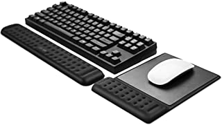 Memory Foam Keyboard Wrist Rest Pad and Mouse Pad with Wrist Rest, Ergonomic Hand Palm Rest Support, Memory Foam Pads Gami...