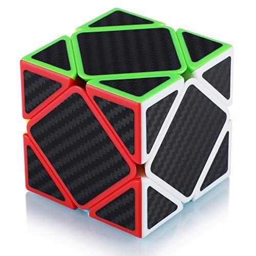 Maomaoyu Skewb Cube Puzzle Magico Cubo de la Velocidad Fibra De Carbono Negro