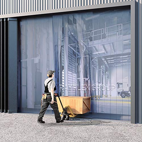 Juego de cortinas ligeras de PVC, 1000mm w x 2100mm h