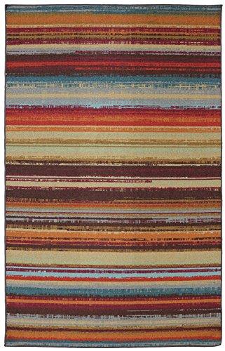Mohawk Home Avenue Stripes Indoor/ Outdoor Printed Area Rug, 5'x8', Multicolor